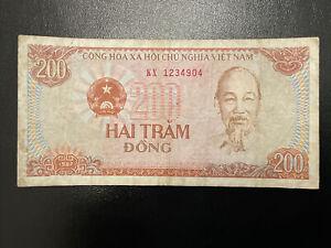 Vietnam 200 Hai Tram Dong Banknote Circulated 1987 Lot 58