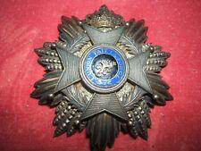 RARE DECORATION BELGE GRAND CROIX ARGENT ORDRE LEOPOLD 2 ROI BELGIQUE 1908 CONGO