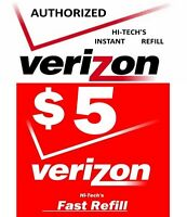 $5 VERIZON PREPAID FAST DIRECT to PHONE 🔥 GET IT TODAY! 🔥 TRUSTED SELLER