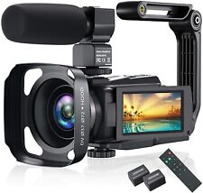 4K Video Camera Camcorder, Vlogging Camera 48MP 60FPS YouTube Camera WiFi Night