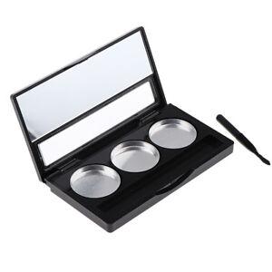 ABS Kunststoff 3 Grids Leere Lidschatten Palette, Make up Container Case Box