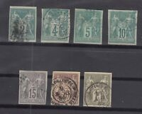 BO6745/ FRENCH COLONIES – 1877 / 1879 USED CLASSIC LOT – CV 305 $