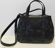 "Guess Black Embroidered Satchel Crossbody Shoulder Bag Handbag ""NWT"""