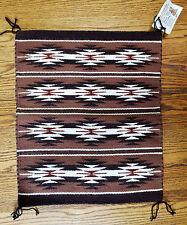 Wide Ruins Brown, Dark Brown Rust and Cream Rug - Navajo Handmade