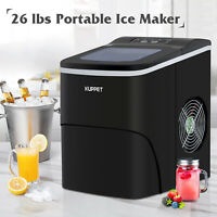 Electric Counter-Top Ice Maker Portable Ice Cube Machine Compact  26LBS Black