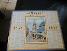 CALENDRIER ALMANACH  PTT 1957 HONFLEUR EGLISE SAINTE CATHERINE