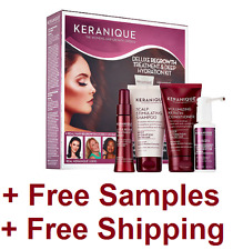 Keranique Deluxe Regrowth Treatment And Deep Hydration Kit New + FREE SAMPLES
