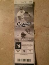 NEW YORK YANKEES USED PHIL RIZZUTO TICKET STUB 6/10/15
