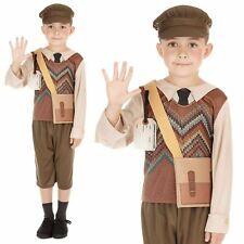 Boys 40s WW1 WW2 Evacuee School Boy Fancy Dress Book Week Costume Outfit