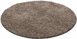 Ayyildiz Life Shaggy Round Area Rug Randtufted, Brown 160cm