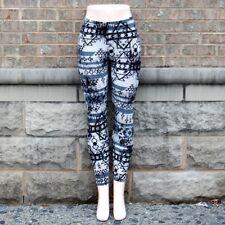 Black White and Gray Printed Leggings S/M