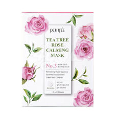 Petitfee Tea Tree Rose Calming Mask 1Pack (10pcs) +Free Sample
