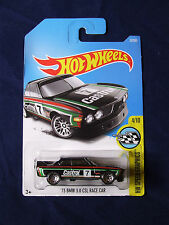 BMW 3.0 CSL RACE CAR 1973 BLACK CASTROL COLOURS HW SPEED   HOT WHEELS LONG CARD