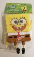 NOS Nickelodeon SpongeBob SquarePants Large Bath Sponge With Holder (2002)