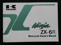 1995 KAWASAKI NINJA 600 ZX-6R MOTORCYCLE OWNERS OPERATORS MANUAL VERY NICE SHAPE