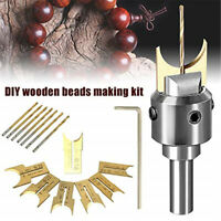 Wooden Bead Maker Beads Drill Bit Milling Cutter Tool Kit for Woodworking DIY