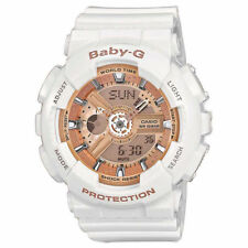 Casio Baby-g Combination Watch With 5 Alarms - White