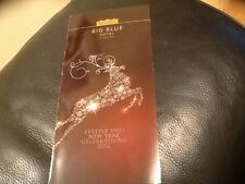 RARE  BIG BLUE HOTEL BLACKPOOL  2012 FESTIVE FOLD OUT MEAL AND BREAK PRICE LIST