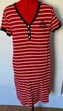 RALPH LAUREN DRESS EMBLEM LOGO STRIPED SHIFT NAUTICAL TEE RED SIZE L LARGE ***ZZ