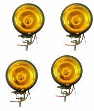 4 X 3.5'' JEEP CAR BIKE SCOOTER SPOT LIGHT YELLOW LENS & HALOGEN BULB