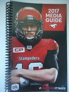 Calgary Stampeders 2017 Media Guide Bo Levi Mitchell CFL Canadian Football