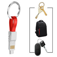3in1 Micro USB Data&Sync Charger Cable Cord for Samsung Huawei Keychain Cable EN