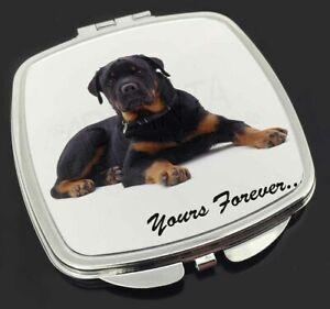 Rotweiler Dog 'Yours Forever' Make-Up Compact Mirror Birthday Gift Ide, AD-RW5CM