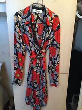 DIANE VON FURSTENBERG DVF LUSSO VESTITO SHIRT DRESS SETA PRINT ORIGINAL 10 US