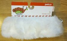 Christmas Dog Collar White Plush Size L