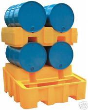 4 Drum Oil Chemical Bunded Drip Sump Spill Pallet horiz