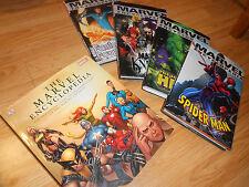 MARVEL ENCYCLOPEDIA HARDCOVER HC LOT - Hulk, Spider-Man, Fantastic Four, Knights