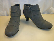 Aerosoles New Womens Play Pleat Gray Ankle Boots 6 M Shoes