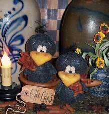 Primitive Black Crow Bird Fall Ornie Doll Paper Pattern #599