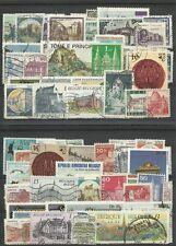 """Lot de 100 timbres thematique """" Chateaux"""""""