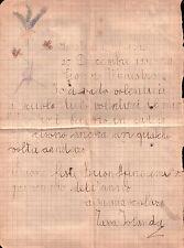 LETTERINA NATALE DA GIUSTENICE SAVONA PER IL MAESTRO NEL 1934 S.MICHELE C10-199