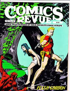 """Comics Revue Vol 1 No 20-1987-Strip Reprints- """"Flash Gordon Cover!  """""""
