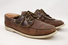 Quoddy Trail Mocassin Co. Brown Leather Boat Shoes Men's 8M