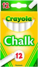 Crayola, 1 Pack of 12 chalk, White, for Blackboard School Office Supplies