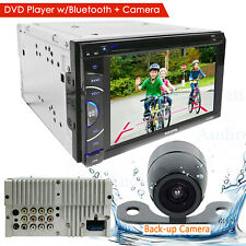 "6.2"" DIN TOUCHSCREEN CAR STEREO DVD BLUETOOTH STEREO MP5 MP3 Player + Rear Cam"