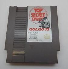 Nintendo NES Top Secret Episode GOLGO13 Game Cartridge, Works R13328