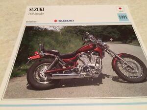 Enchufe Moto Colección Atlas Motorbike Suzuki 1400 Intruder 1991