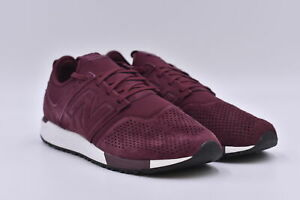 Men's New Balance 247 Suede Lace Up Sneakers, Maroon Red, 12M