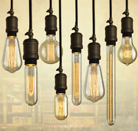 Industrial Vintage Dimmable Edison Filament Light Bulb Squirrel Cage 60W E27/B22