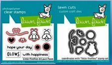Lawn Fawn Photopolymer Clear Stamp & Die Combo ~ LITTLE FIREFLIES  ~LF1593,1594