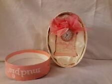 MUD PIE Princess Ceramic clock Pink Ribbon
