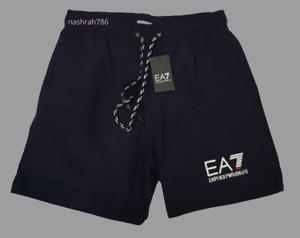 EMPORIO ARMANI EA7 Men's Swim Shorts (2 Color, Black & Dark Navy)