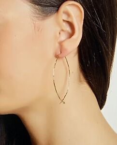 ADORNIA Gold Plated Sterling Silver Pull Through Earrings