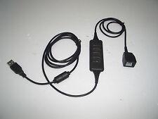 DA200 RJ9 Modular Female socket to USB plug Adapter Cable for Telephone Headset