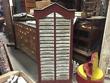 """c1870-1880 Pa louvered barn vent Great old red & white paint 62"""" X 31"""" X 4"""""""