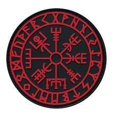 vegvisir viking compass PVC 3D morale tactical asatru norse hook patch